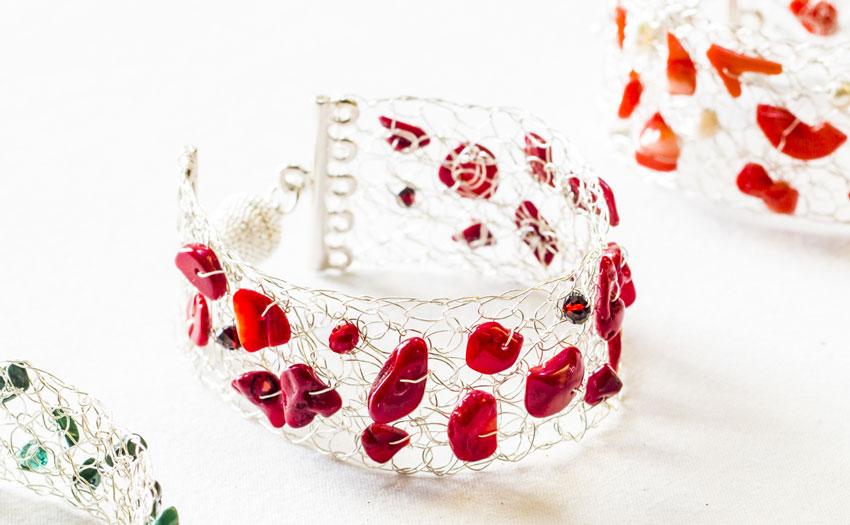 Gioielleria bigiotteria artigianale Lanzarote - Collezione Wire crochet - Anna Tornese Jewelry