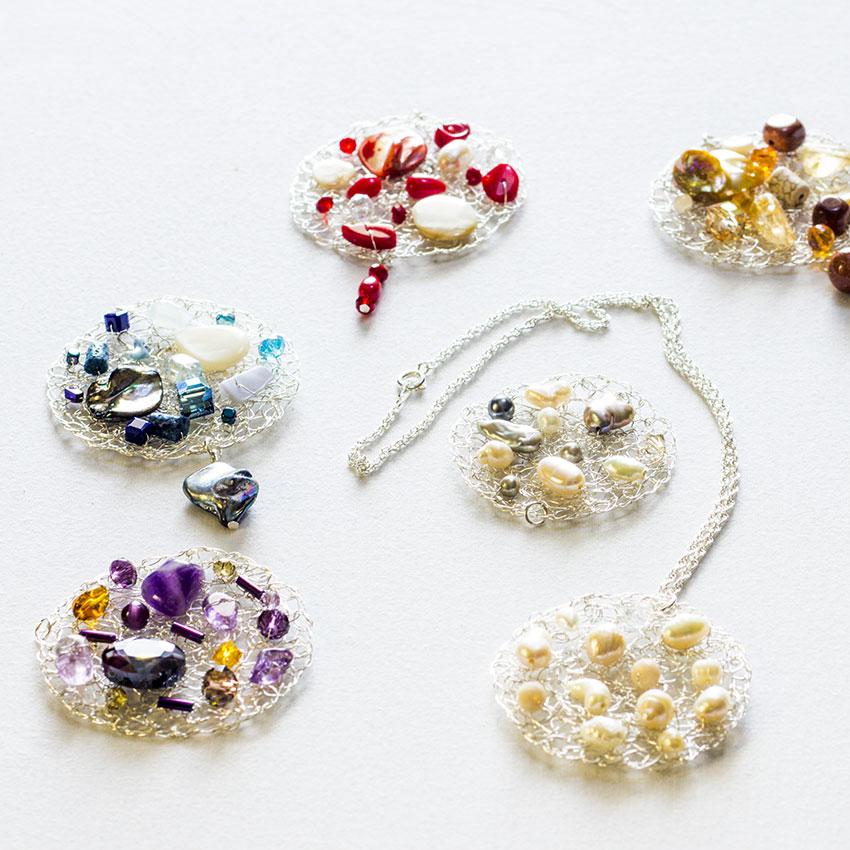 Joyería bisutería artesanal Lanzarote - Colección Wire crochet - Anna Tornese